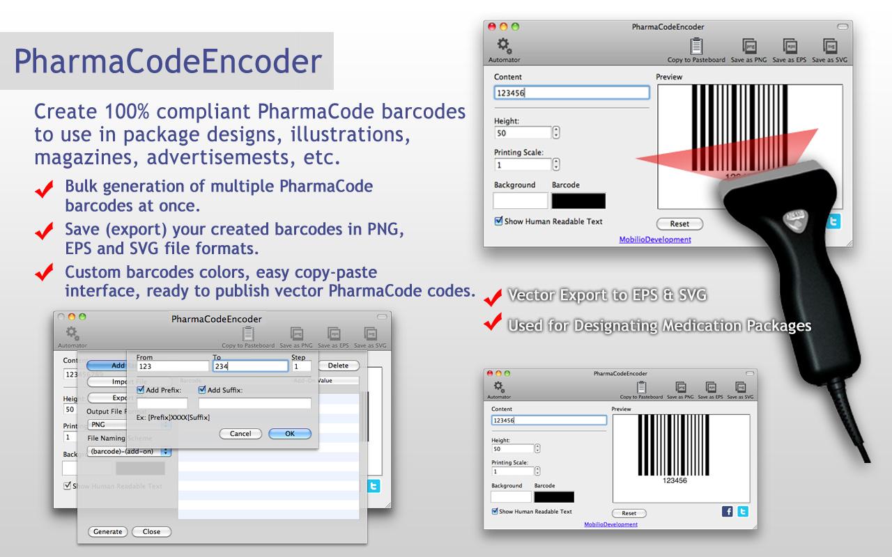 pharmacode barcode generator