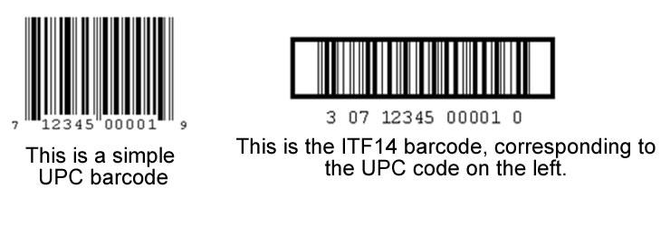 UPC into ITF14