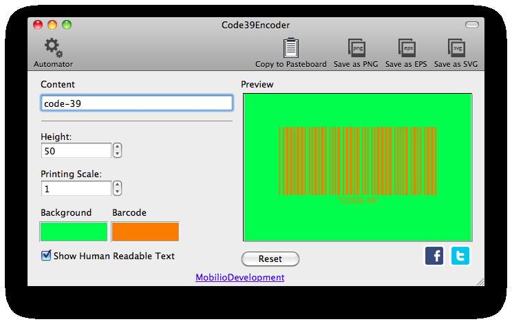 Code39Encoder - Code 39 barcode generator