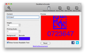 changing the color of data matrix barcode