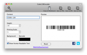 changing the height of code 128 barcode