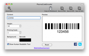 changing the height of pharmacode barcode
