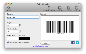 changing the printing scale of code 128 barcode