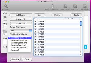 code128encoder automator file naming scheme