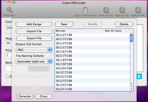 code128encoder automator generating barcode
