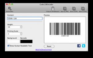 code128encoder generating code 128 barcode