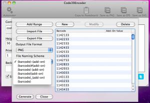 code39encoder automator file naming scheme