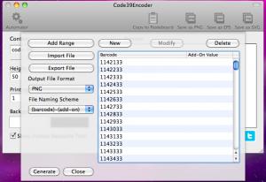 code39encoder automator generating barcode