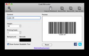 code39encoder generating code 39 barcode