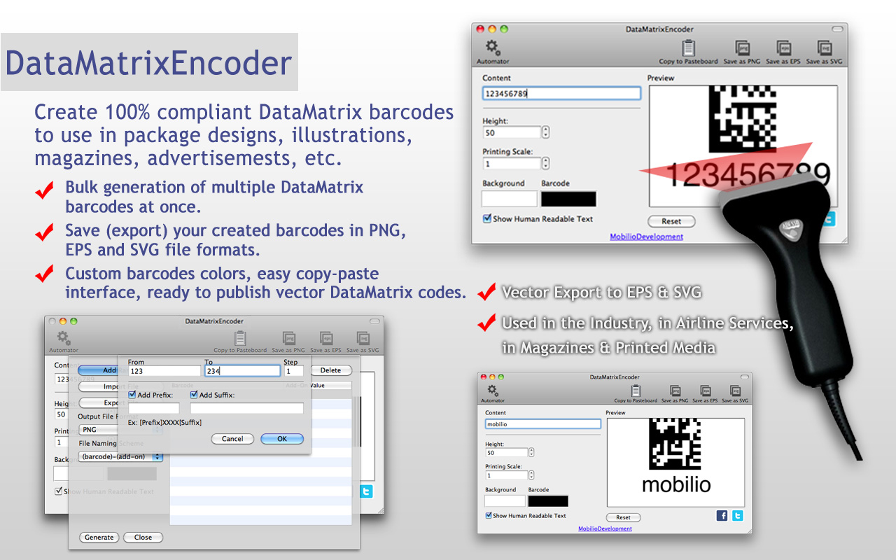data matrix barcode generator