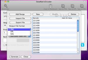 datamatrixencoder automator output file format