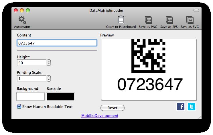 DataMatrixEncoder - Data Matrix barcode generator