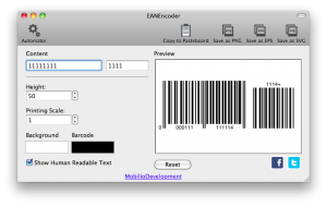 ean13 barcode with ean5 addon
