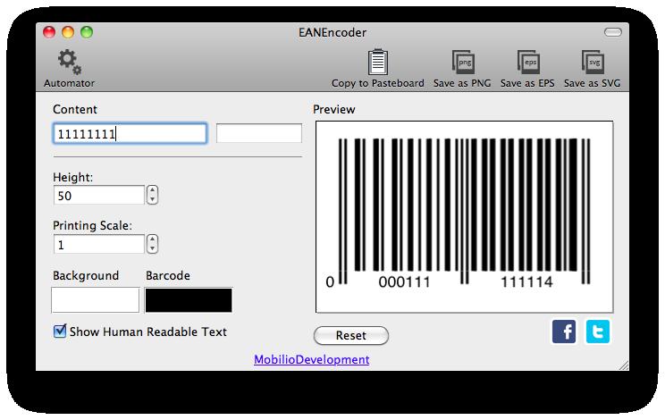 EANEncoder - EAN barcode generator