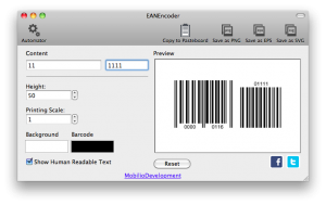 ean8 barcode with ean5 addon