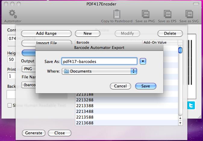 PDF417Encoder - PDF417 barcode generator