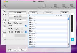 pdf417 generating barcodes