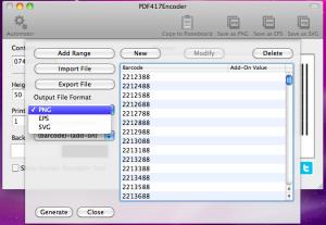 pdf417 output format
