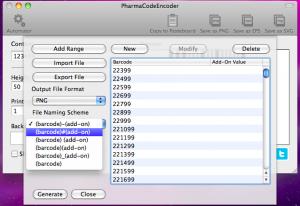 pharmacodeencoder automator file naming scheme
