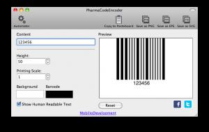 pharmacodeencoder generating pharmacode barcode