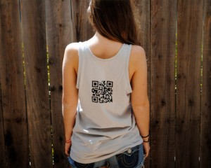 QR code on a T-shirt