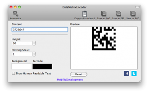 removing the human readable part from data matrix barcode