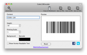 removing the readable part for humans from code 128 barcode