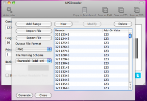 upcencoder generating barcodes