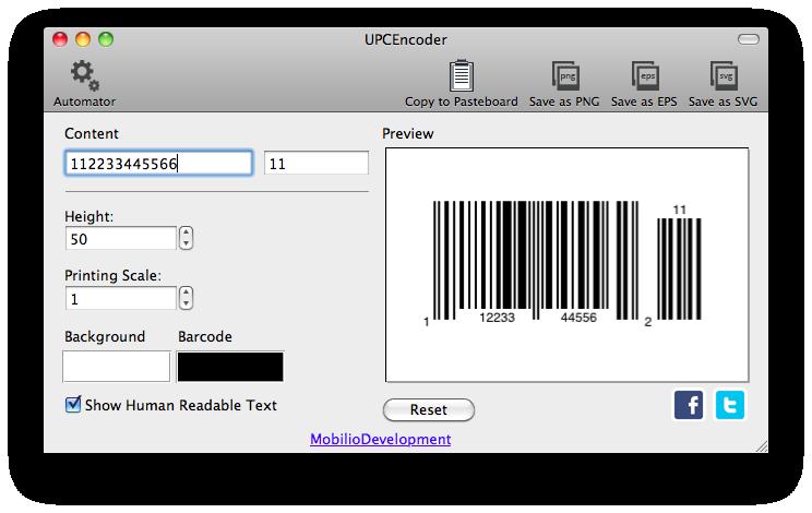 UPCEncoder - UPC barcode generator