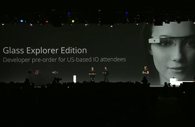 Sergey Brin representing Google Glass