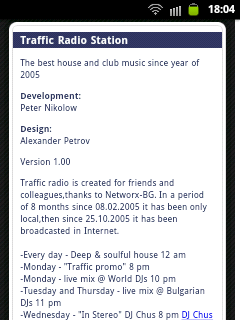 Traffic Radio Station for Android 3