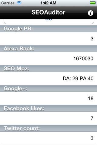 Screen 2 from SEOAuditor