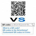 QR codes vs Short Keyword Searching