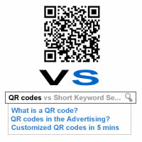 QR codes vs Short Keyword Searching
