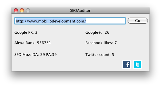 SEOAuditor for OSX - seo tools by Mobilio