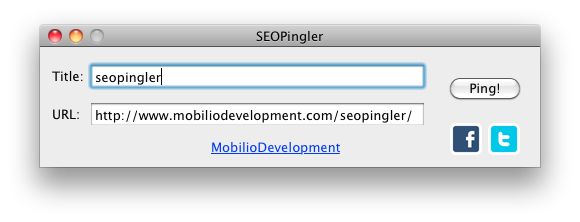 SEOPingler for OSX - seo tools by Mobilio
