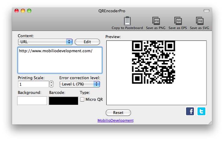 qrencoder generating qr barcode