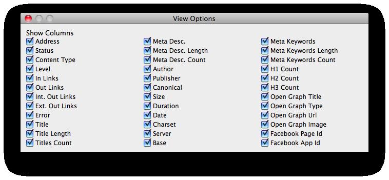 seospyder-view-options