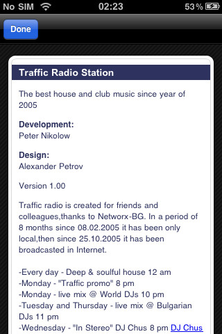 Screenshot for Traffic Radio 2